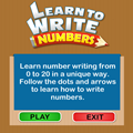 icon for learn to write numbers