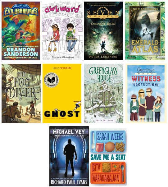 Photo of covers for Spring Battle of the Books