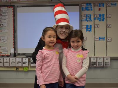 Cat in the Hat with twins!