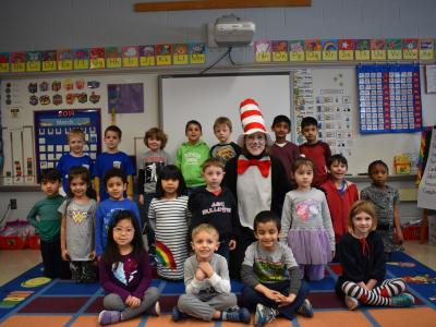 Cat in the Hat visited classrooms!