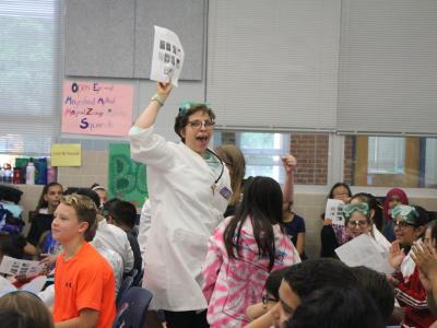 photo of Students participating in the Battle of the Books