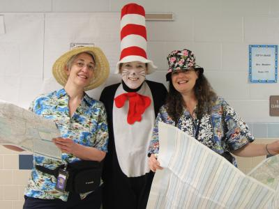 teachers with the Cat in the Hat