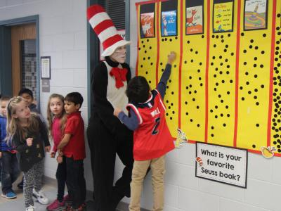 Students with the Cat in the Hat